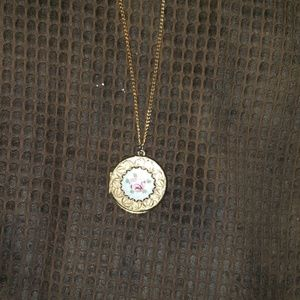 Necklace with antique locket